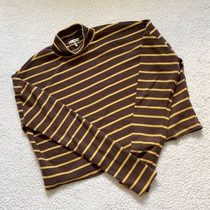 OAK + FORT Striped Mock Neck Shirt